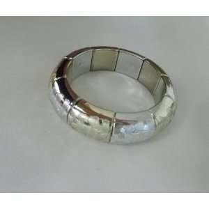 Jewelry   Stretchable Silver and Gold Bangle Bracelet