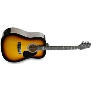 Sw201sb Dreadnought Acoustic Guitar Sunburst Musical Instruments