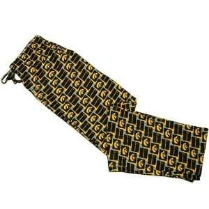 Iowa Hawkeyes Black Pattern Pajama Pants