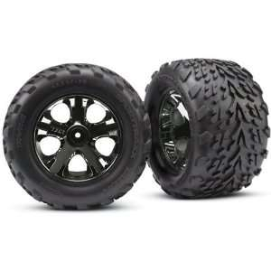 Star Black Chrome Wheels for Stampede Nitro Rear Electric Front Toys