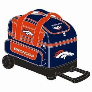NFL Double Roller Bowling Bag  Denver Broncos Sports