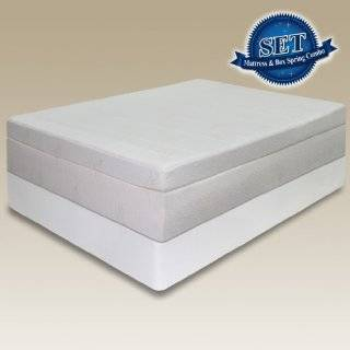 Pressure Relief Memory Foam Mattress & Bi Fold® Box Spring Set   Full
