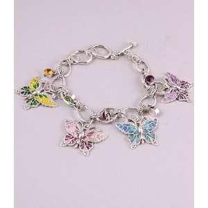 Fashion Jewelry Charm Bracelet with Butterfly Pattern