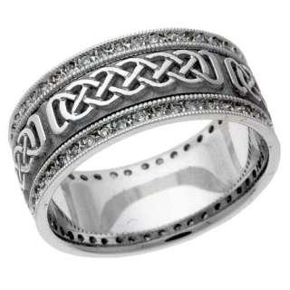 White Gold Hand & Machine Assembled Contemporary Diamond Wedding Ring
