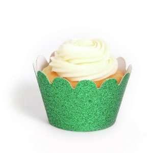 Dress My Cupcake Mini Emerald Green Reusable Glitter Cupcake