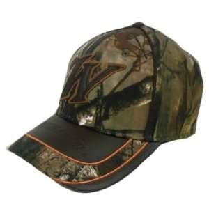 Winchester Hat Cap Realtree Camo Camouflage Brown Leather Bill Flex