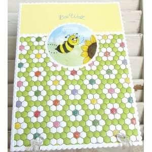 Carol Wilson Get Well Card Bee Well Sunflowers Subtle Glitter