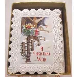 Carol Wilson Christmas Greeting Cards Winter Scene 15 Ct