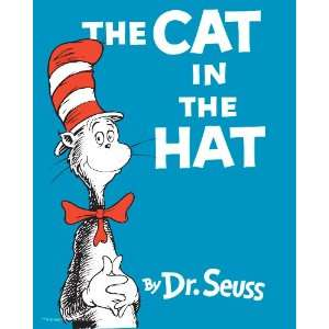 The Cat in the Hat Classic Book Cover, 8 x 10 Poster Print