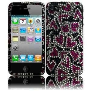 CDMA GSM Full Diamond Cover   Nightly Hearts Hard Case Cell Phones