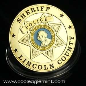 Sheriff Police US Gold Plated Challenge Coin 494 Everything Else