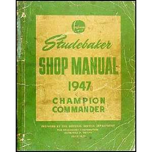 Manual Original Champion, Commander, Land Cruiser Studebaker Books