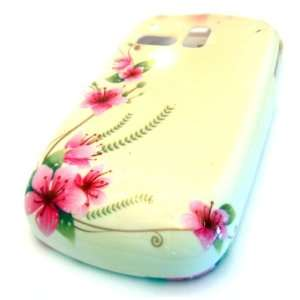Samsung R355c Pearl Cherry Blossom Flower Design Gloss HARD Case Cover