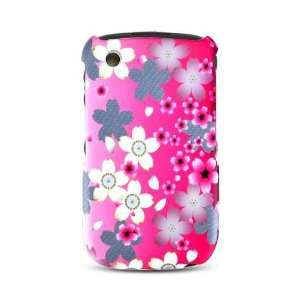 Pink Cherry Blossom Flower Design Rubberized Snap on Hard