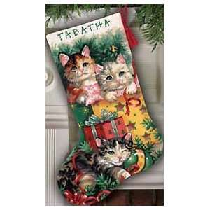 Dimensions Christmas Kittens Stocking Ndlept Kit Arts