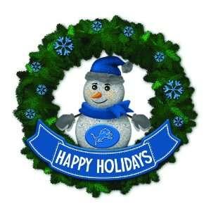 Lions Lighted Snowman Artificial Christmas Wreath