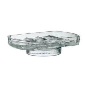 Xtra Spare Clear Glass Soap Dish