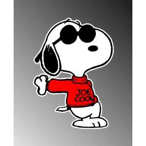 Snoopy JOE Cool Funny Vinyl Decal Bumper Sticker 4x5