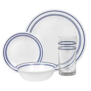 Corelle 16 Piece Dinnerware Set Classic Caf Blue Kitchen