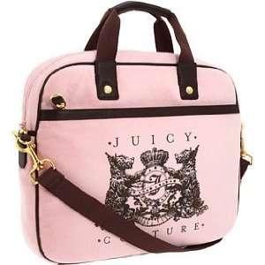 Juicy Couture Scottie Bling Laptop Messenger Case Bag ~ Pink In Color