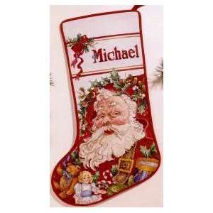 Santas Toys Stocking, Cross Stitch from Vermillion Arts
