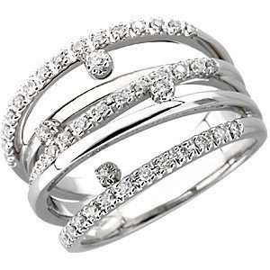 35 Carat Total Weight Diamond Ring set in 14 kt White Gold(8) Jewelry