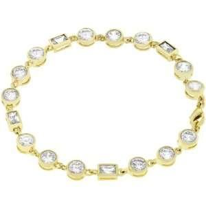 14k Yellow Gold Plated CZ Bracelet Jewelry