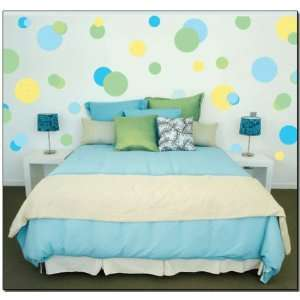 Green Jumbo Polka Dots Wall Transfer Stickers Mural Baby