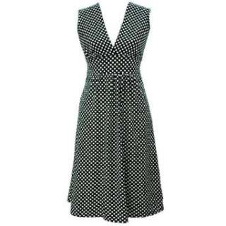 Lightweight Black & White Polka Dot Dress Clothing