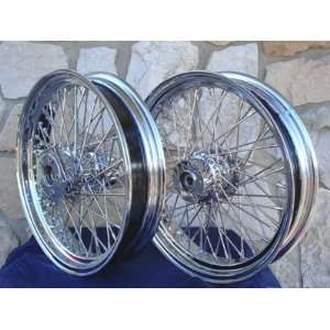 SPOKE FRONT & REAR WHEEL SET FOR HARLEY ROAD KING & DRESSERS 1984 99