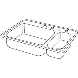 Elkay Kitchen Sink   2 Bowl Dayton DSEMR23322R4