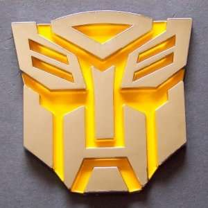 Transformer 3D Car Decal Badge Emblem Autobots Yellow: Automotive