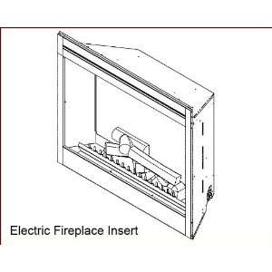 Aico Furniture Electric Fireplace Insert AI AFB33N