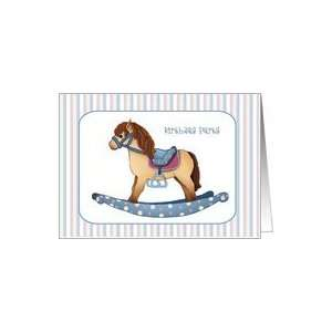 Rocking Horse 1st Birthday Party Invitations Cards Card