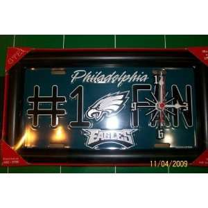 Eagles Collectible License Plate Clock Frame