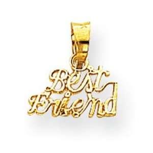Genuine IceCarats Designer Jewelry Gift 10K Best Friend Charm Jewelry