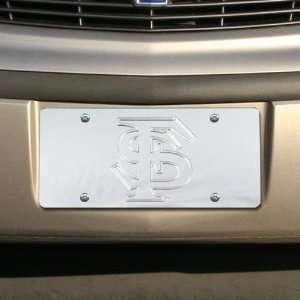 Florida State Seminoles (FSU) Silver Mirrored Team Logo License Plate