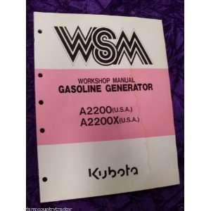 Kubota A2200/2200X Gas Generator OEM Service Manual