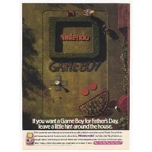 1992 Nintendo Game Boy GameBoy Lawn Fathers Day Print Ad