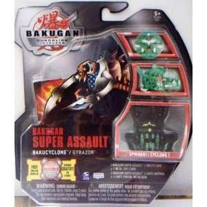 Bakugan SPINNER GYRAZOR (BLACK) SUPER ASSAULT (FACTORY SEALED PACKAGE