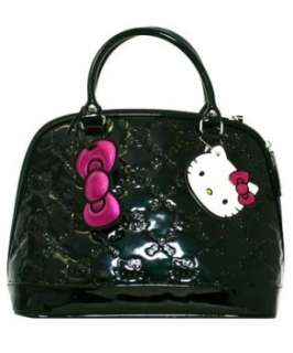 Hello Kitty Bag   Small Black Patent Embossed Tote Bag Clothing
