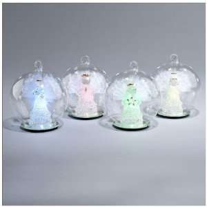 Fiber Optic Wings   Color Changing LED Glass Globes