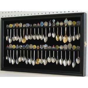 40 Spoon Display Case Cabinet Holder Rack with Glass Door