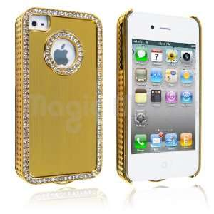 4S Yellow / Gold Rhinestone *Gratis Stylus*: Cell Phones & Accessories