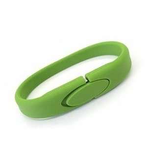 1GB Rubber Bracelet Flash Drive (Green) Electronics