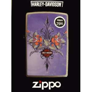 Purple Rose Harley Davidson Zippo Lighter