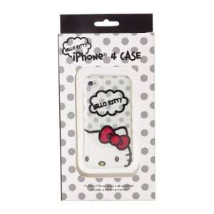 Hello Kitty iPhone 4 Case Grey Dots Cell Phones