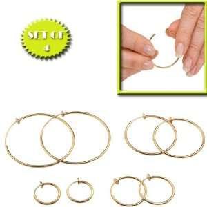 CLOSURE HOOP EARRINGS (SET OF 4 IN ASSORTED SIZES)