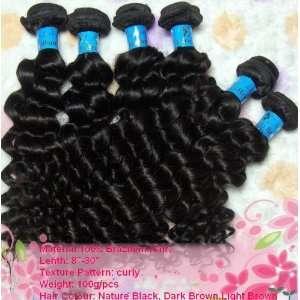 Human Hair weft Deep Curly 20 Brazilian Virgin Remy 100% Human Hair