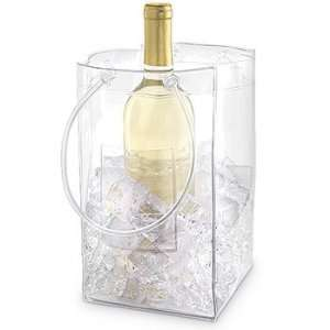 Durable PVC Water Resistant Wine Ice Bag   Dim 6Dx 6W x